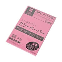 (業務用セット) APPJ 蛍光色カラーペーパー サイバーレッド A4 100枚 型番:KTGO75A4 【×10セット】 ds-1640305