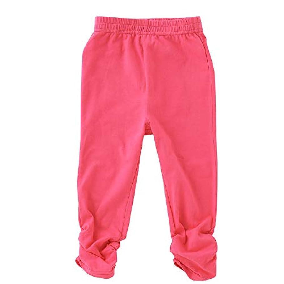 混合したマンハッタン空の(チャックルベビー) chuckle BABY ピンク 花柄 ストレッチ 長ズボン P3566