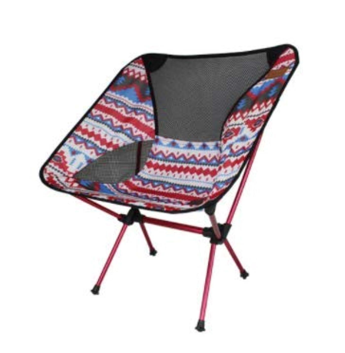 年金受給者残高地下屋外折りたたみ椅子ムーンチェア超軽量ポータブルアルミ釣り椅子キャンプ折りたたみテーブルと椅子レジャー (Color : Red)