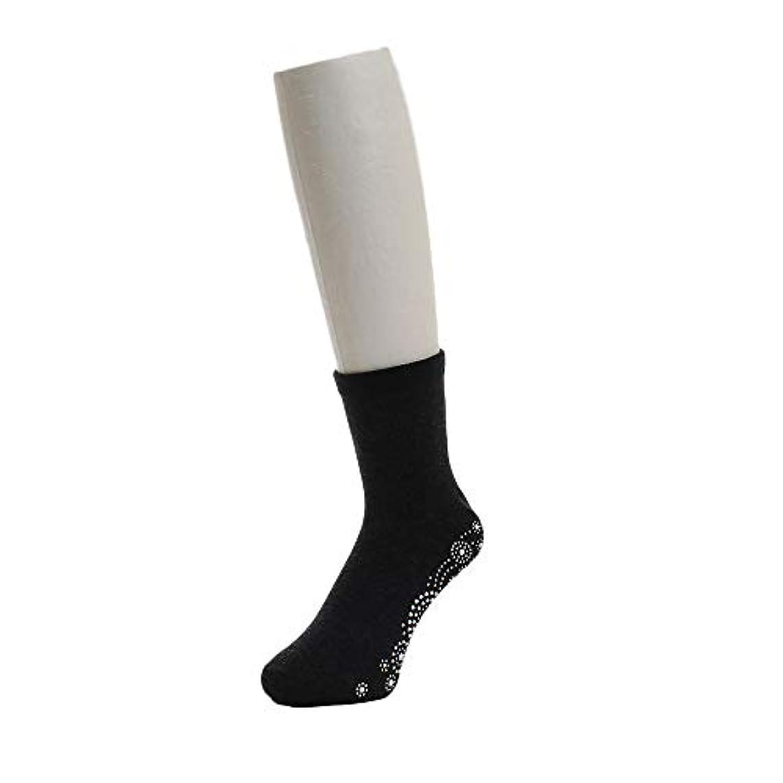 疼痛大破意志に反する足つぼ ソックス ブラック 22-25cm