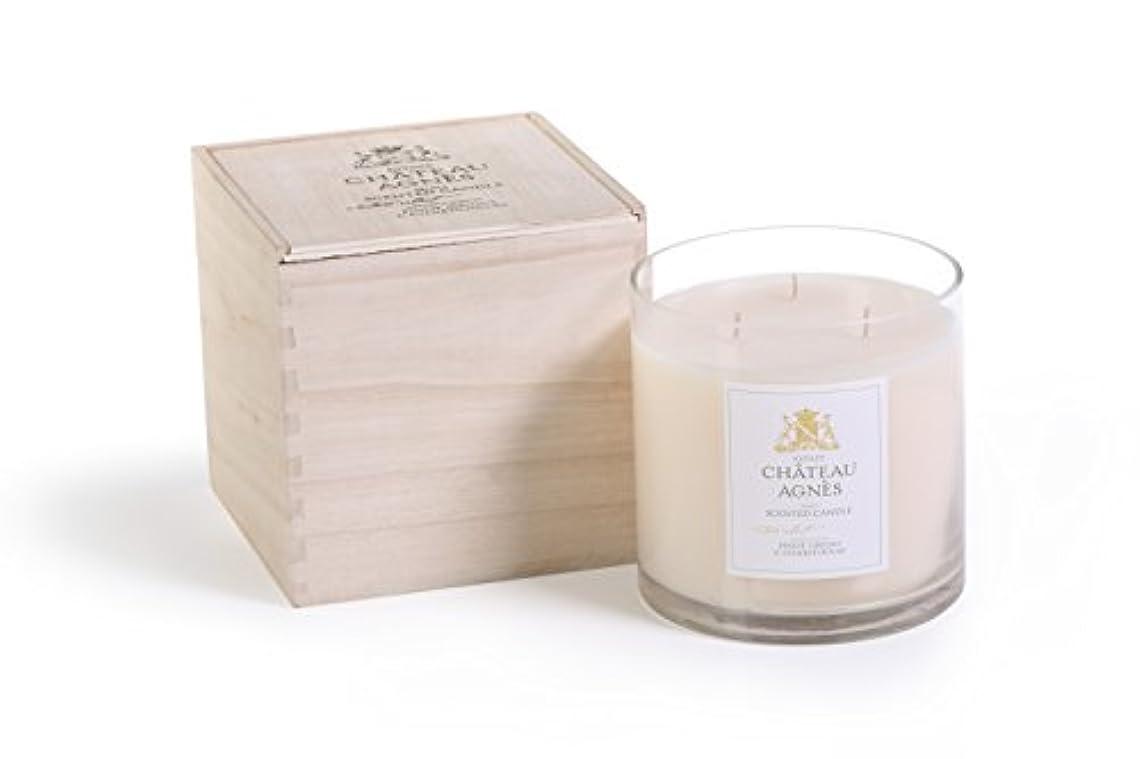 驚かす大破条件付きPinot Grigio & Chardonnay Scented 3- Wick Candle Jar