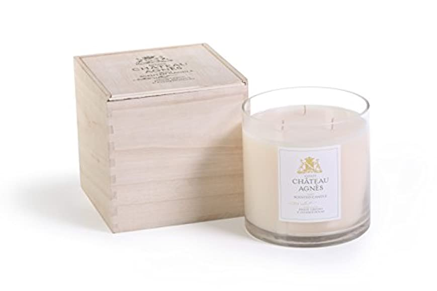 メロドラマ君主減るPinot Grigio & Chardonnay Scented 3- Wick Candle Jar