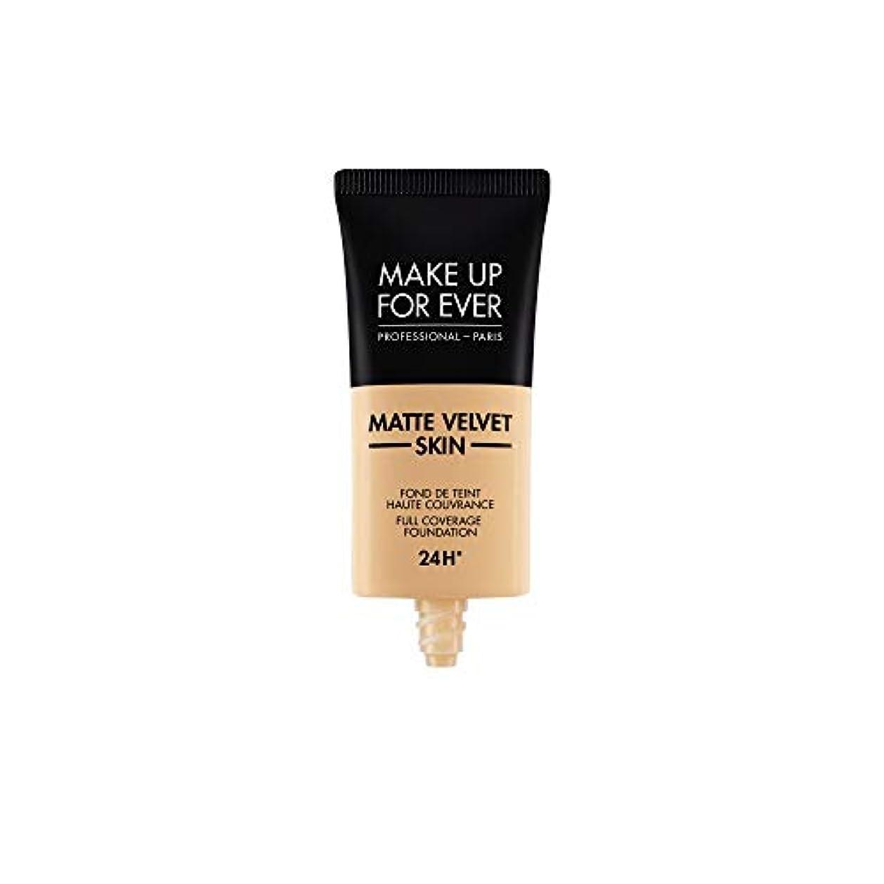 アクセシブルみなす敵メイクアップフォーエバー Matte Velvet Skin Full Coverage Foundation - # Y335 (Dark Sand) 30ml/1oz並行輸入品