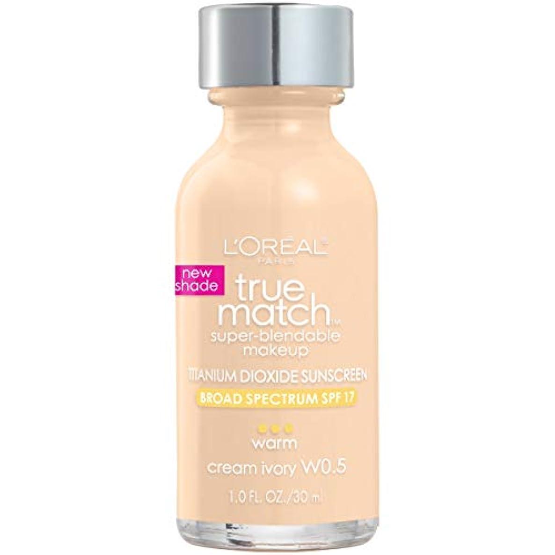 うそつきオペレーター残基L'Oréal True Match Super-Blendable Foundation Makeup (CREAM IVORY)