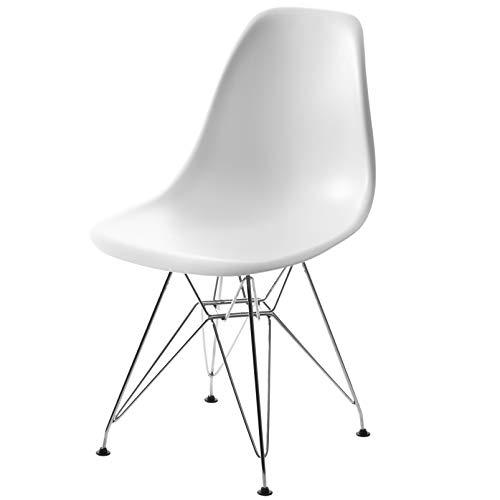 【世界で有名なデザイナーズチェアー】 イームズチェアー DSR ロッドワイヤーベース Eames ホワイト色 ホワイト DSR