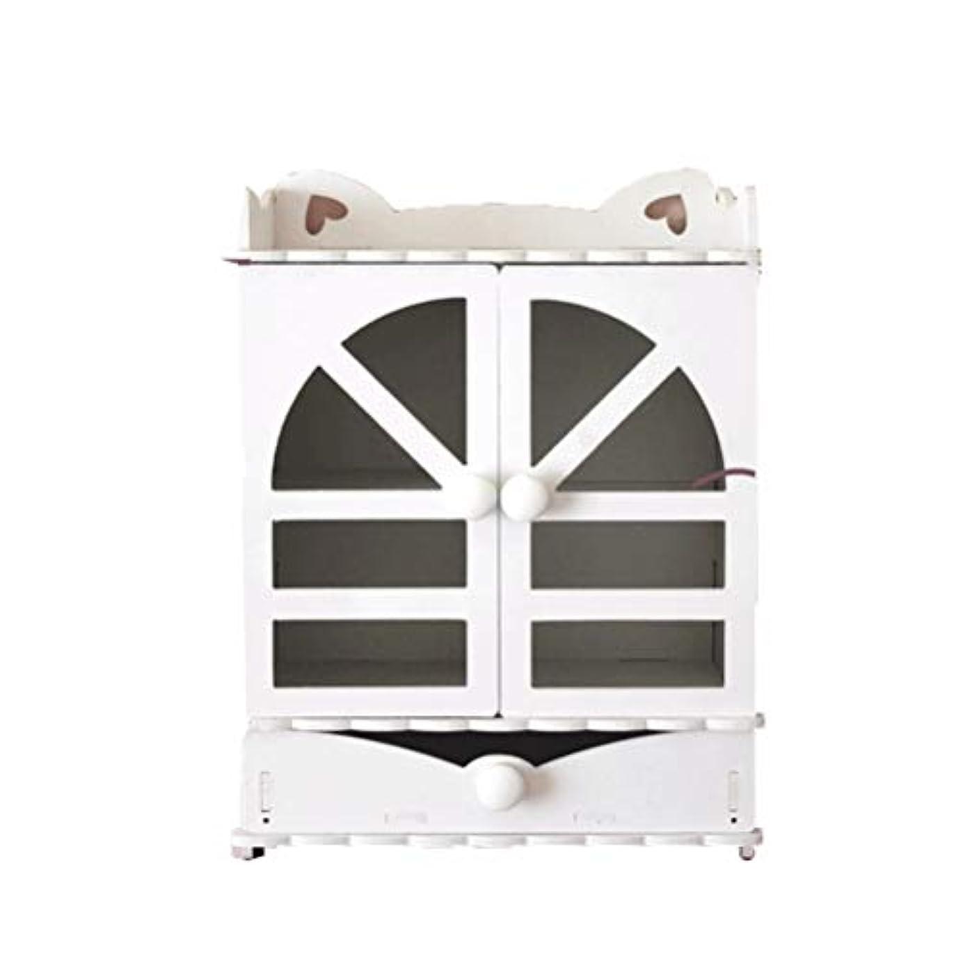 しつけ雨の考え化粧品収納ボックス 大容量 メイクボックス コスメ収納 卓上収納 蓋付き 引き出し式 収納ボックス 持ち運び 防塵 スキンケア用品入れ 小物入れ ジュエリーケース 家庭用 洗面所 テーブル整理 ハウス型