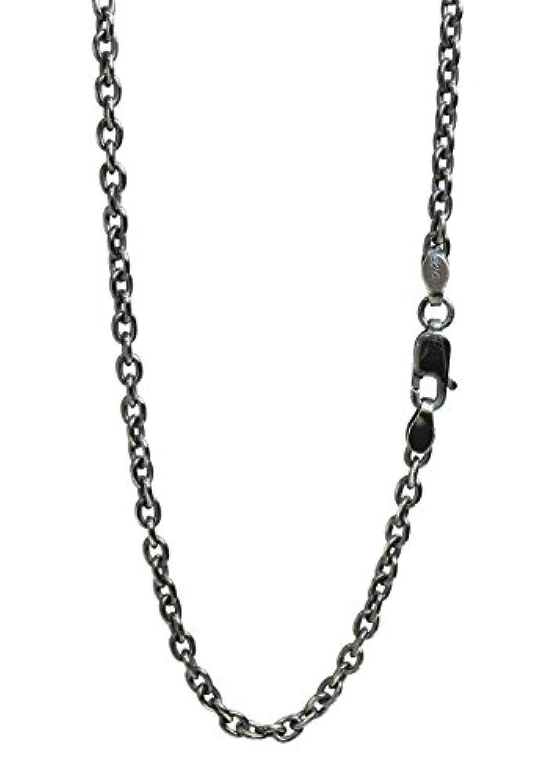 新宿銀の蔵 いぶし あずきチェーン 長さ40~70cm (60cm) 幅2.8mm 濃いめ シルバー 925 ネックレス チェーン ネックレスチェーン メンズ sv