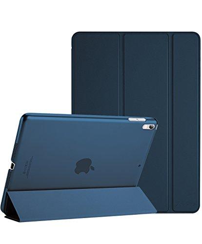 "ProCase Apple iPad Pro 10.5"" 2017 ケース - 2017新10.5インチiPad Pro専用 超薄型軽量 スタンドスマートケース 半透明フロストバックカバー 自動スリープ/ウェイク機能付き –濃紺"