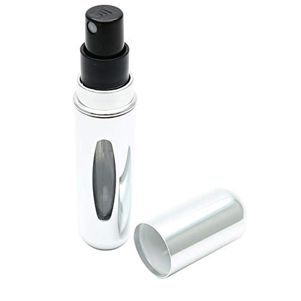設計出身地理容師dinos アトマイザー プッシュチャージ式 簡単詰め替え スプレー アロマ オイル 化粧水 (メタリックシルバー)