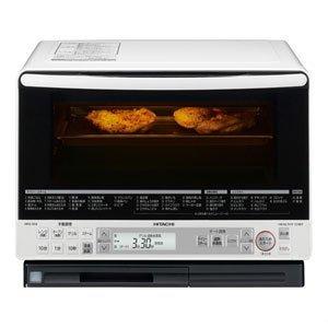 日立 過熱水蒸気オーブンレンジ ヘルシーシェフ 31L パールホワイト MRO-NS8 W -