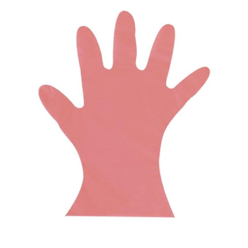 中間一口批判的カラーマイジャストグローブ #28 化粧箱(5本絞り)200枚入 ピンク M 27μ