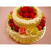 2次会用 ウェディングケーキ (ショートケーキ丸2段)バースデーケーキ【バースデーケーキ 誕生日ケーキ デコ】::146