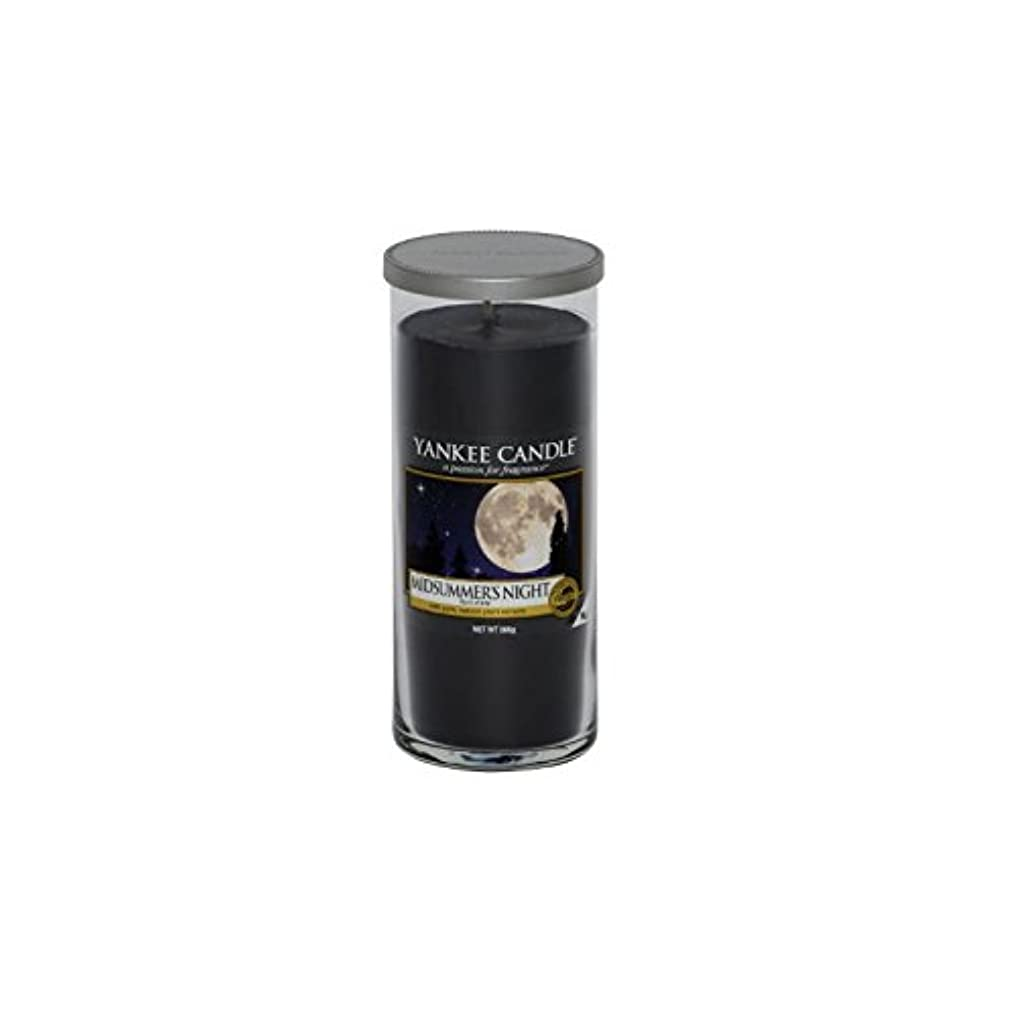Yankee Candles Large Pillar Candle - Midsummer Night (Pack of 2) - ヤンキーキャンドル大きな柱のキャンドル - 真夏の夜 (x2) [並行輸入品]