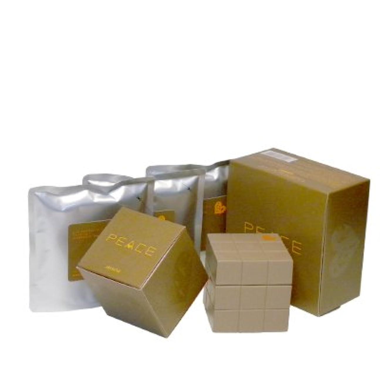 小石弾性風刺アリミノ ピース プロデザインシリーズ ソフトワックス カフェオレ80g+詰め替え80g×3