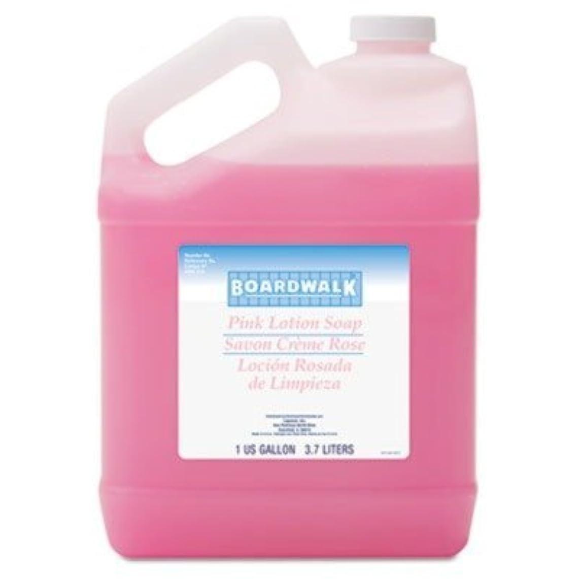 征服者ケニアで出来ているbwk410 – Mild Cleansing Lotion Soap、LTピンク花柄香り、液体、1ガロンボトル