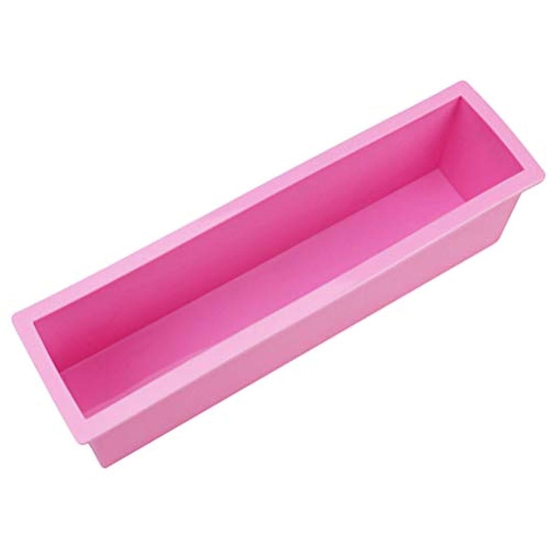 荒れ地マグ削るYardwe 石鹸ケーキミートローフ用品のための柔軟な長方形のシリコンソープモールドロープ(ランダムカラー)サイズL