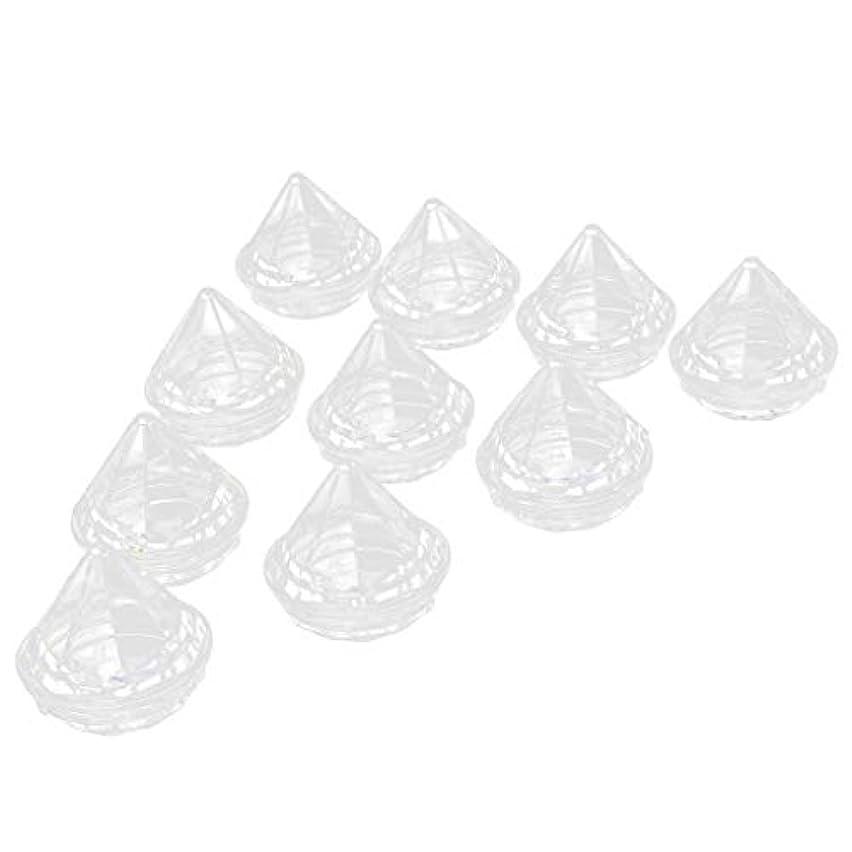 流す手配する気味の悪い10個 空ジャー クリームジャー ダイヤモンド型 クリア リップクリーム コスメ容器
