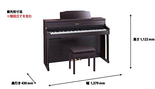 ローランド電子ピアノ(クラシックローズウッド調仕上げ)RolandPianoDigitalHP605-CRS