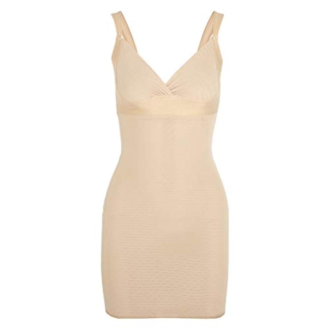 透けて見える透けて見える増強する女性のポスト産後Post身下着シェイパードレスを回復ボディスーツシェイプウェアウエストコルセットガードル-アプリコット-XL