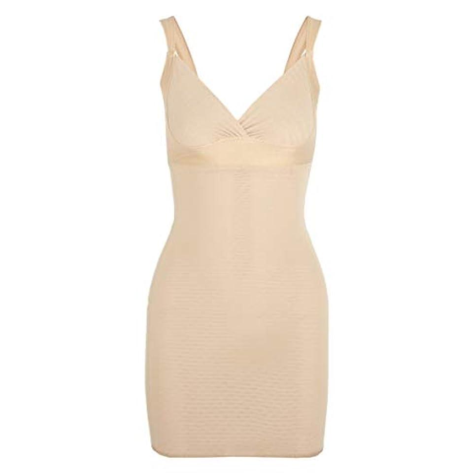 娯楽紫の免疫する女性のポスト産後Post身下着シェイパードレスを回復ボディスーツシェイプウェアウエストコルセットガードル-アプリコット-XL