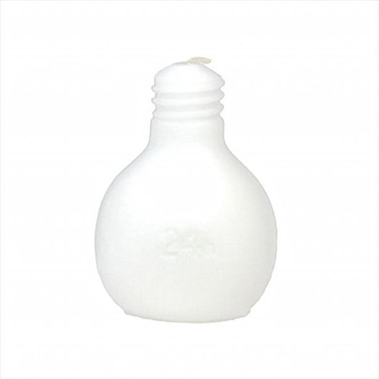 白鳥はず傷つきやすいkameyama candle(カメヤマキャンドル) 節電球キャンドル 「 ホワイト 」 キャンドル 75x75x98mm (A4220000W)