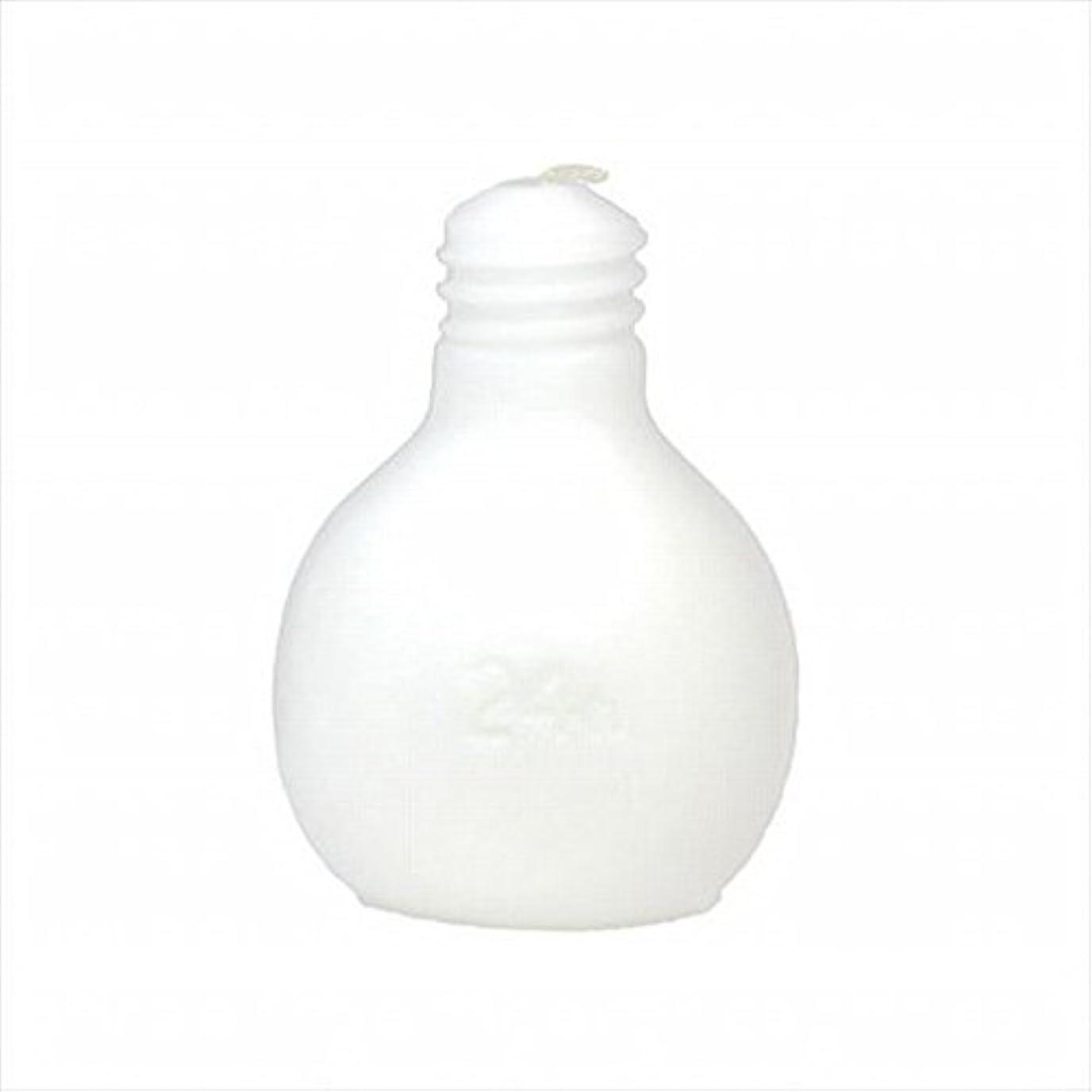 寝室プロフィール爵kameyama candle(カメヤマキャンドル) 節電球キャンドル 「 ホワイト 」 キャンドル 75x75x98mm (A4220000W)