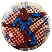 ◎ スパイダーマン SPIDERMAN 缶バッチ 缶バッジ 『 ドット柄 ジャンプ 』 MARVEL マーベル SPIDER-MAN SPIDER MAN
