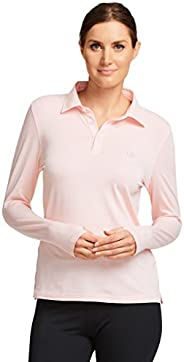 Solbari UPF 50+ Women's Sun Protection Long Sleeve Polo Shirt - UV Protection, Sun Protec