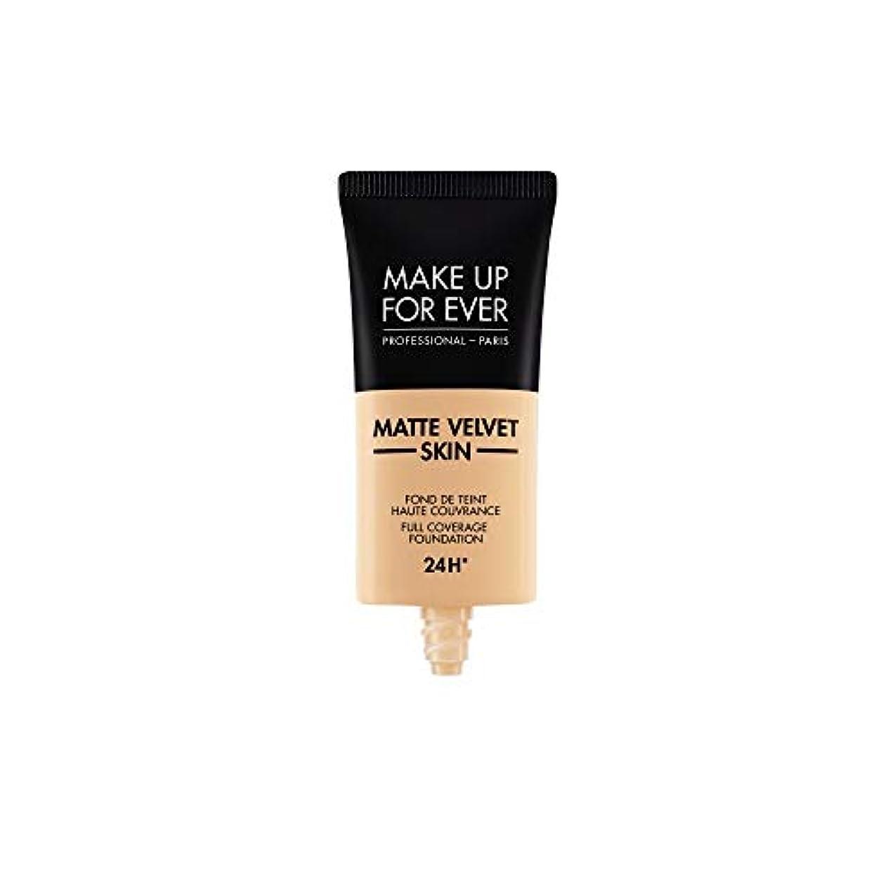偽善者疑い者チチカカ湖メイクアップフォーエバー Matte Velvet Skin Full Coverage Foundation - # R330 (Warm Ivory) 30ml/1oz並行輸入品