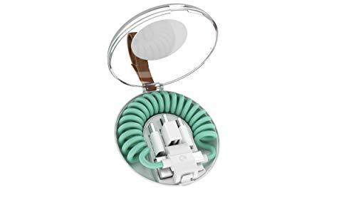 充電ケーブル(6-in-1) allroundo(オールラウンド) Lightning/microUSB/type-C対応 TradeConthor社 正規代理店 Mfi認証取得 (ミント)