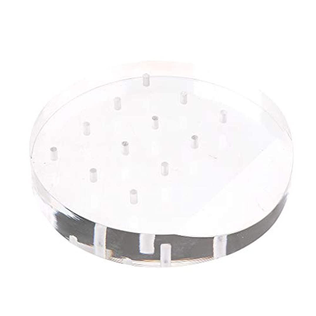 分析する構成備品Toygogo アクリルネイルドリルビットディスプレイホルダー透明スタンドオーガナイザーマニキュアツール12穴