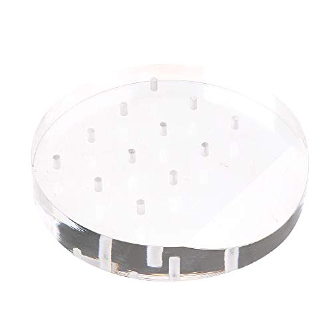 受け入れる専門細胞Toygogo アクリルネイルドリルビットディスプレイホルダー透明スタンドオーガナイザーマニキュアツール12穴