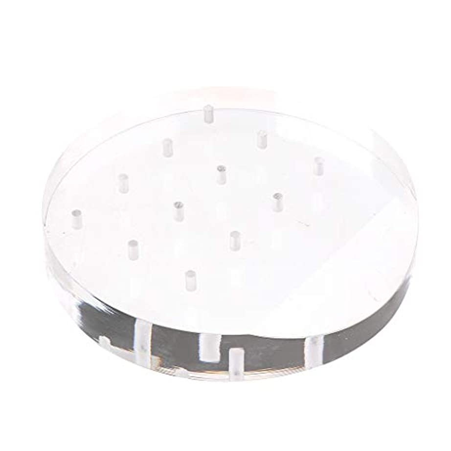 Toygogo アクリルネイルドリルビットディスプレイホルダー透明スタンドオーガナイザーマニキュアツール12穴