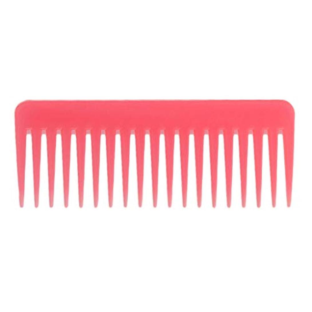 パレード起訴するマージン巻き毛の太い髪用の広い歯のもつれのくしサロンシャンプーヘアブラシくし、6.1 ' - ピンク