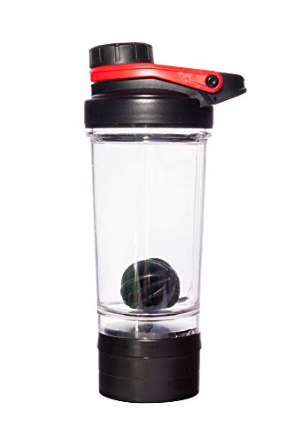 共和国単語サイトBennlife プロテインシェイカー 500ml シェーカーボトル ブラック ミキサー (赤)