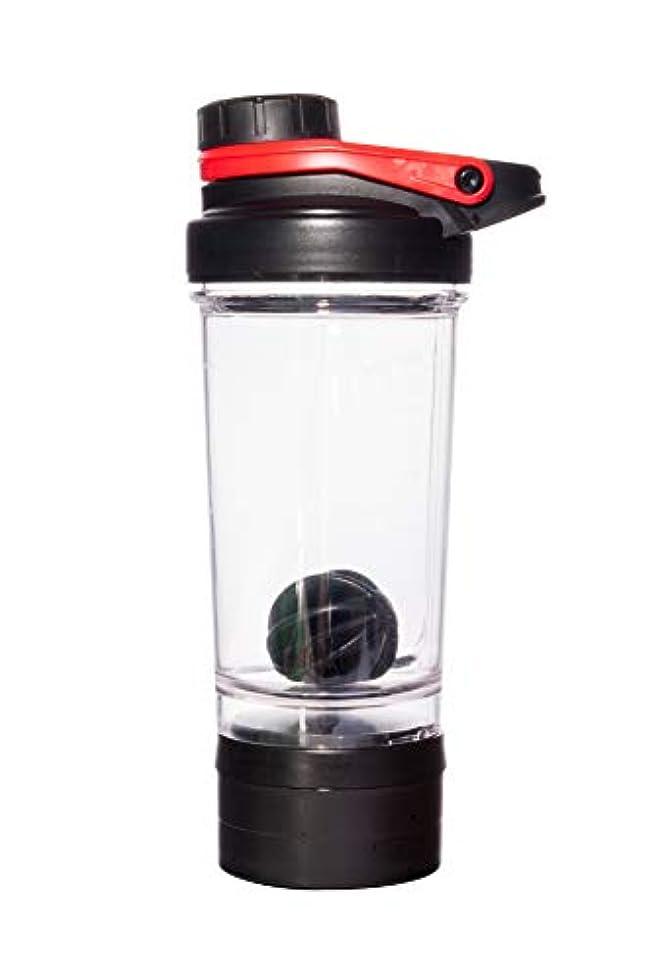 もっともらしい迅速アンデス山脈Bennlife プロテインシェイカー 500ml シェーカーボトル ブラック ミキサー (赤)