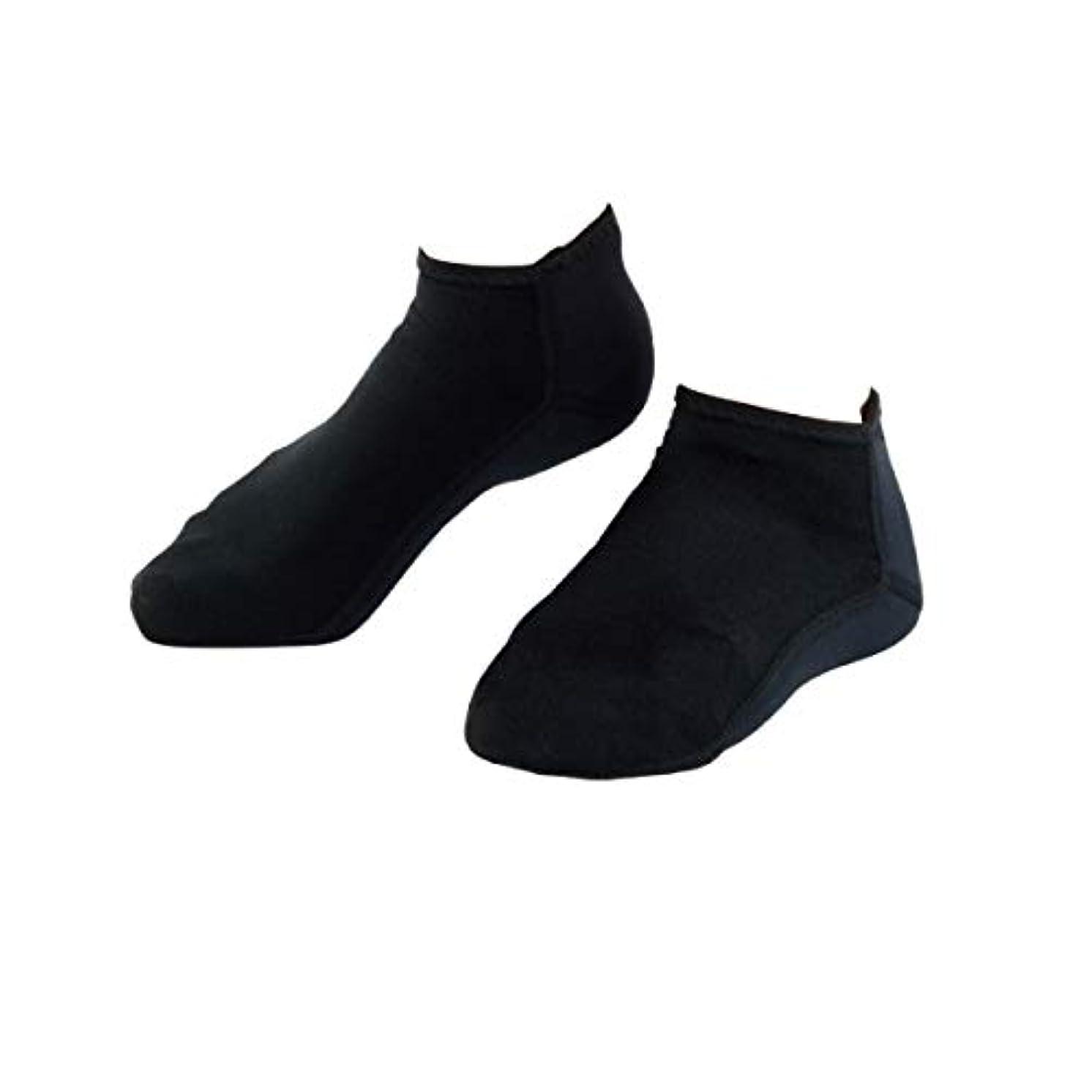 流体バイソンよろしく靴下 かかと 保湿 チタン 素足小町 フル