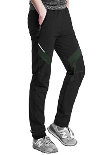 ROCKBROS(ロックブロス)スポーツパンツ サイクルパンツ ウインドブレーク 冬用 ズボン 裏起毛 防寒 防風保温 アウトドア(緑、2XL)