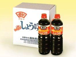 「こだわり醤油」杉樽でじっくり2年間熟成発酵した風味ある香りの月印醤油1リットル×6本セット
