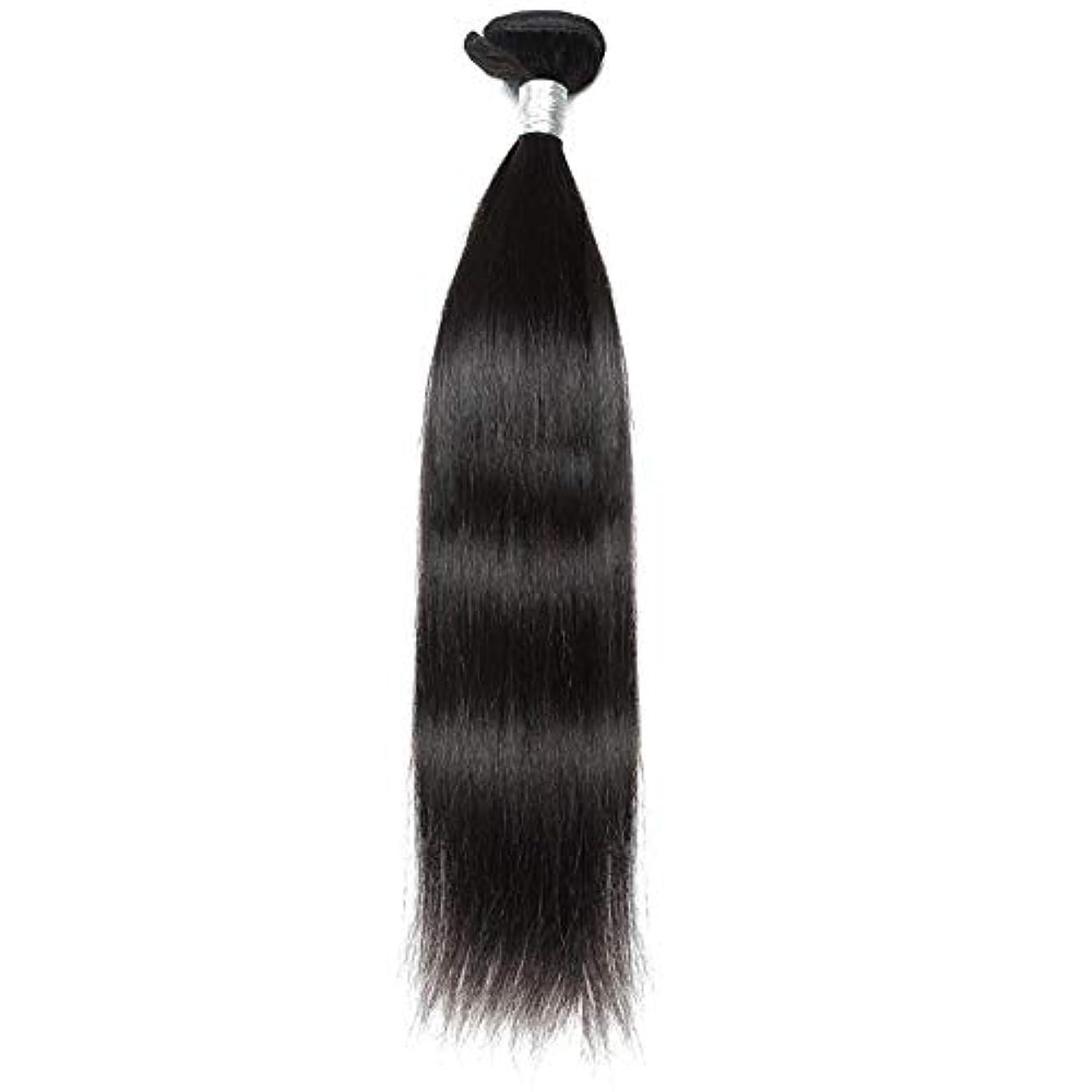 時代遅れ批判する教科書WASAIO ブラジルのバージン毛なめらかな単純明快な人間が1つのバンドルナチュラルカラーの拡張バンドルを編む(10インチ?26インチ) (色 : 黒, サイズ : 12 inch)