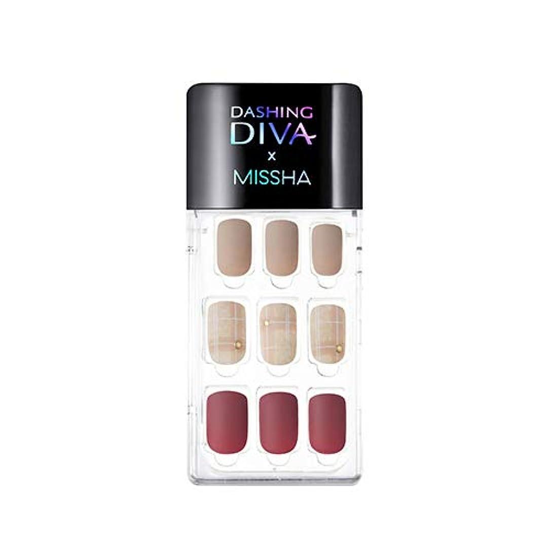 自体遺棄された電卓[ ミシャ X ダッシングディバ ] マジックプレス スーパースリムフィット MISSHA Dashing Diva Magic Press Super Slim Fit #MDR_498 Cashmere Mauve...