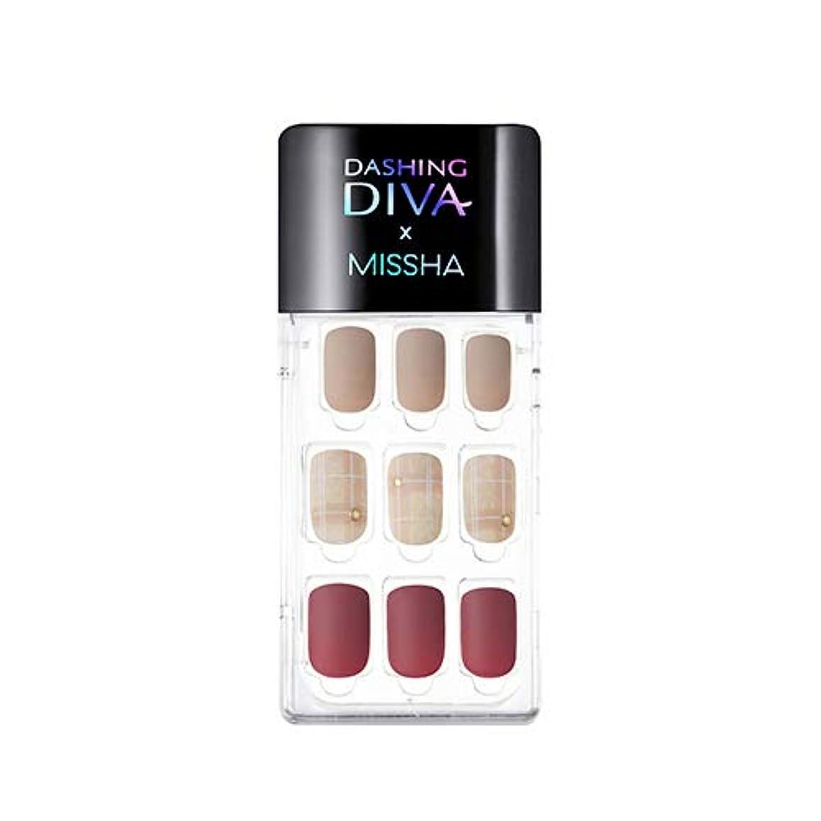 並外れてイベント合唱団[ ミシャ X ダッシングディバ ] マジックプレス スーパースリムフィット MISSHA Dashing Diva Magic Press Super Slim Fit #MDR_498 Cashmere Mauve...