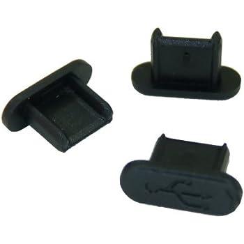 テクノベインズ MicroUSBコネクタ用キャップ(ロングタイプ)(黒)つまみなし 6個/パック USBMCBLCK-B0-6 ※適合状態についての説明をご覧ください