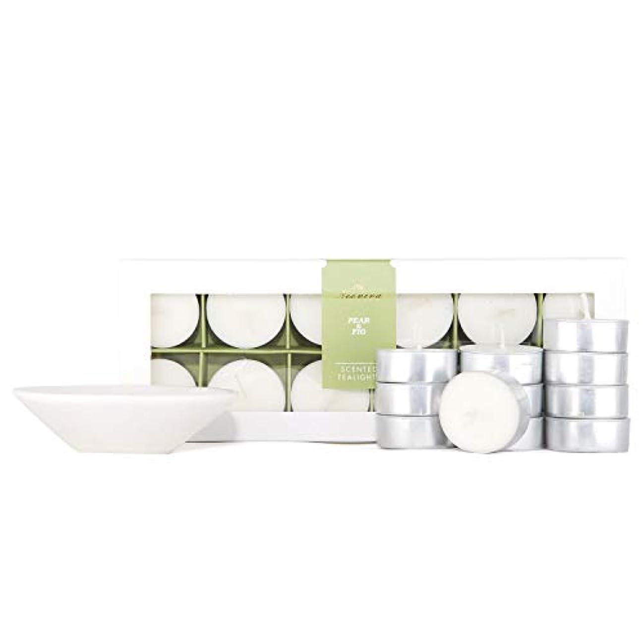 NEOVIVA HOME アロマテラピーキャンドル 100%天然エッセンシャルオイル 香り付きキャンドル 大豆ワックス ストレス解消 アロマセラピー用 ギフトセット 12パック Pear&Fig