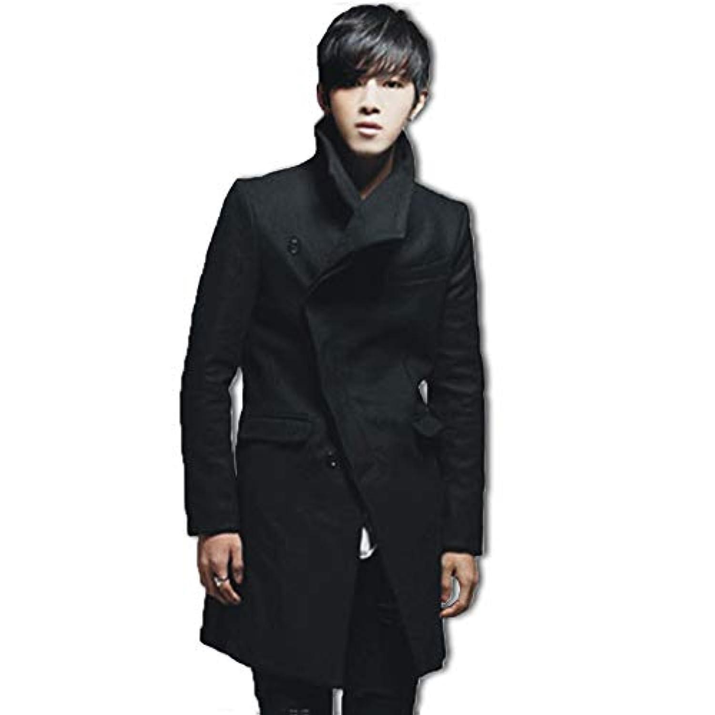 AMBLY メンズファッション シンプル シック ロング コート 上着 無地 長袖 アウター 大きいサイズ も