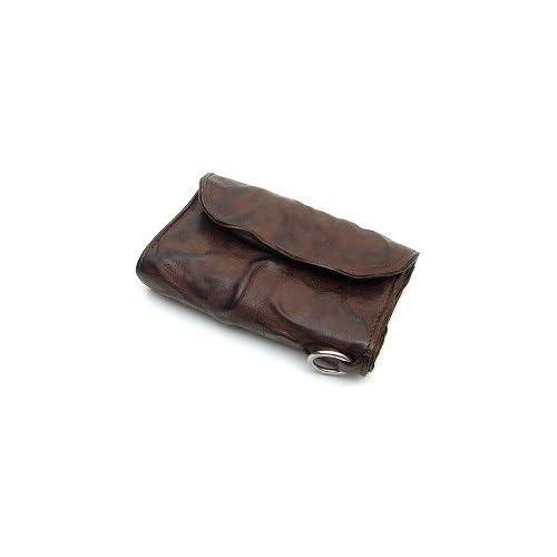 MR.OLIVE(ミスターオリーブ) ME101-BR ブラウン レザーウォレット/ショート/ウォッシュレザー/シワ加工/牛革 財布