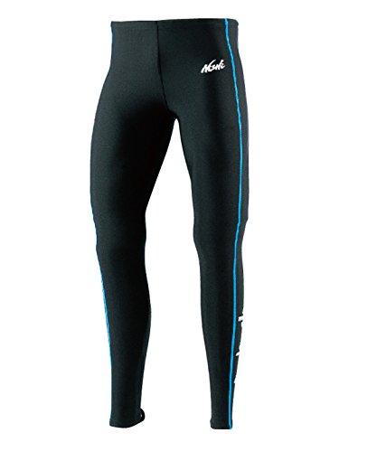[해외]NISHI (니시 스포츠) T &  F 롱 스타킹 N76-72.0745 블랙 × 터키석 S/NISHI (Nishi Sports) T &  F Long Tights N 76 - 72.0745 Black × Turquoise S