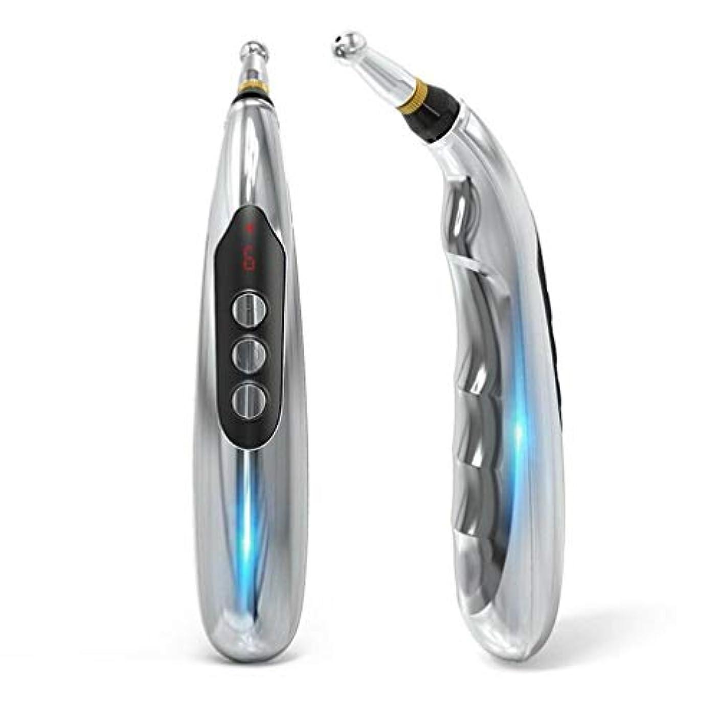 シャベル素子記念5マッサージヘッド機能エネルギー痛み治療の救済とUSB充電式エネルギー鍼ペン。