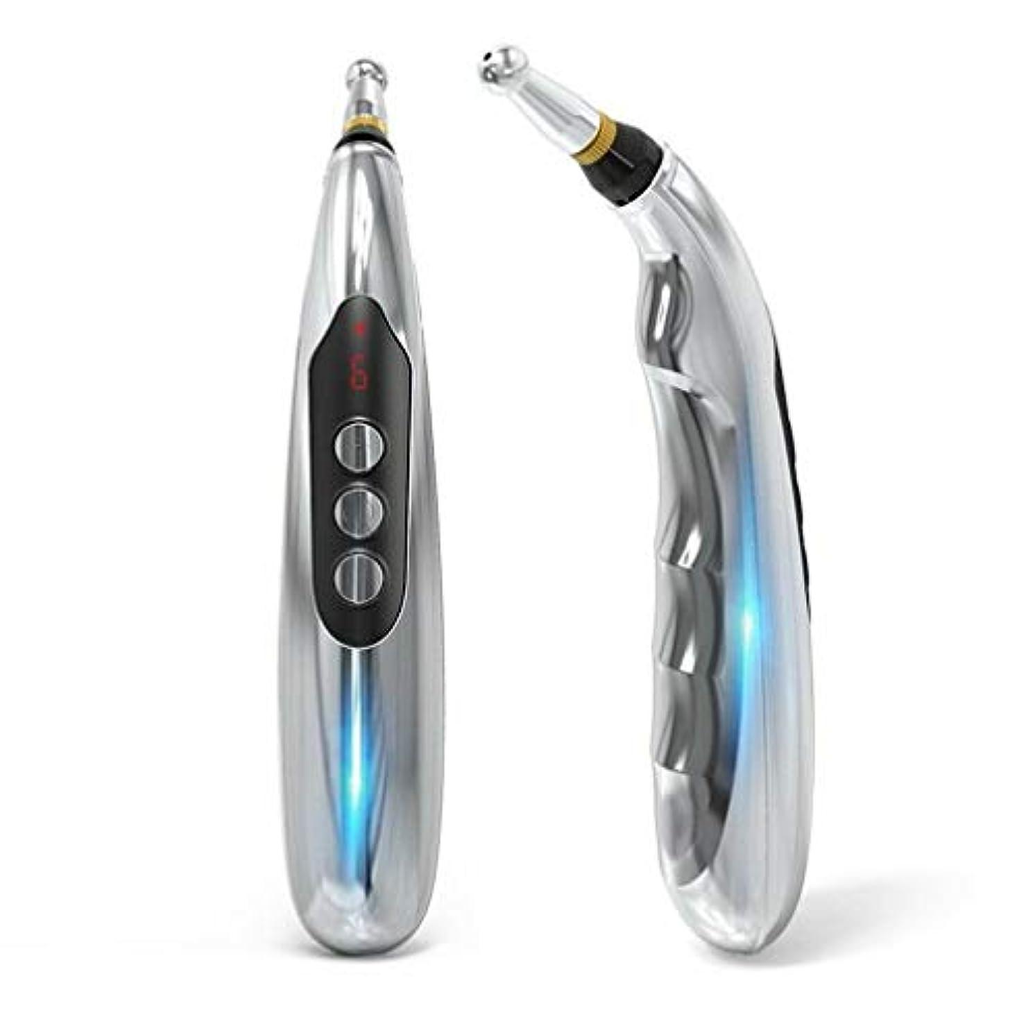 十年へこみ通信する5マッサージヘッド機能エネルギー痛み治療の救済とUSB充電式エネルギー鍼ペン。
