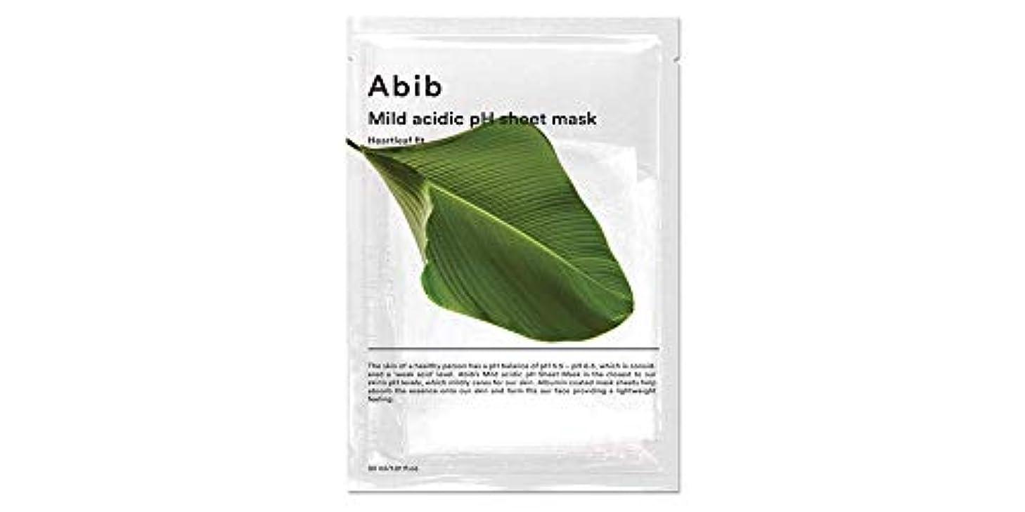 専門先のことを考える現代ABIB MILD ACIDIC pH SHEET MASK_ HEARTLEAF FIT (#10枚) [並行輸入品]